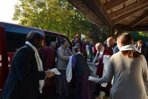 Minling Sangyum Kushog arrives at Oberlethe, Germany to attend the Mahasangha 2016