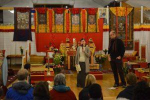 Zuzana Dankova during the orientation with Arne. OBERLETHE -DAY 2