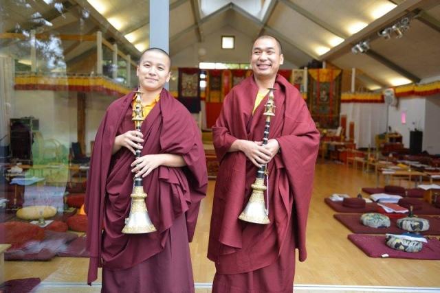 Ven. Lama Thinley Gyaltsen and Ani Jampal Choedron at the Mindrolling Mahasangha 2016 | Oberlethe, Germany