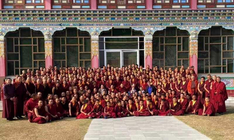 HE Minling Khenchen, Minling Sangyum Kushok, HE Jetsün Khandro Rinpoche, Jetsün Kushok, Dungse Jigdral, Jetsün Gautami, Kunda Britton, tulkus, khenpos and monks of Mindrolling