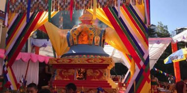 Cremation of the Kudung of Kyabje Taklung Tsetrul Riinpoche