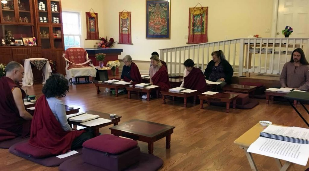 Observing the 10th anniversary of Kyabje Mindrolling Trichen Rinpoche at Mindrolling Lotus Garden in Virginia, US.