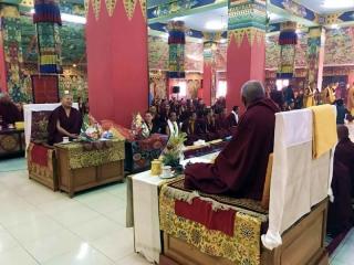 Kybaje Khochhen Rinpoche and HE Minling Jetsün Khandro Rinpoche