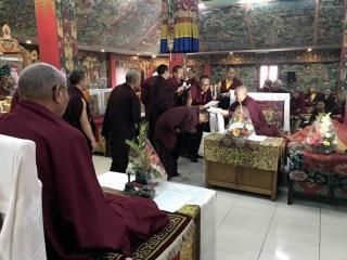 HE Jetsün Khandro Rinpoche during the certificate presentation