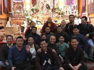 Members of the Tibetan sangha in New York City