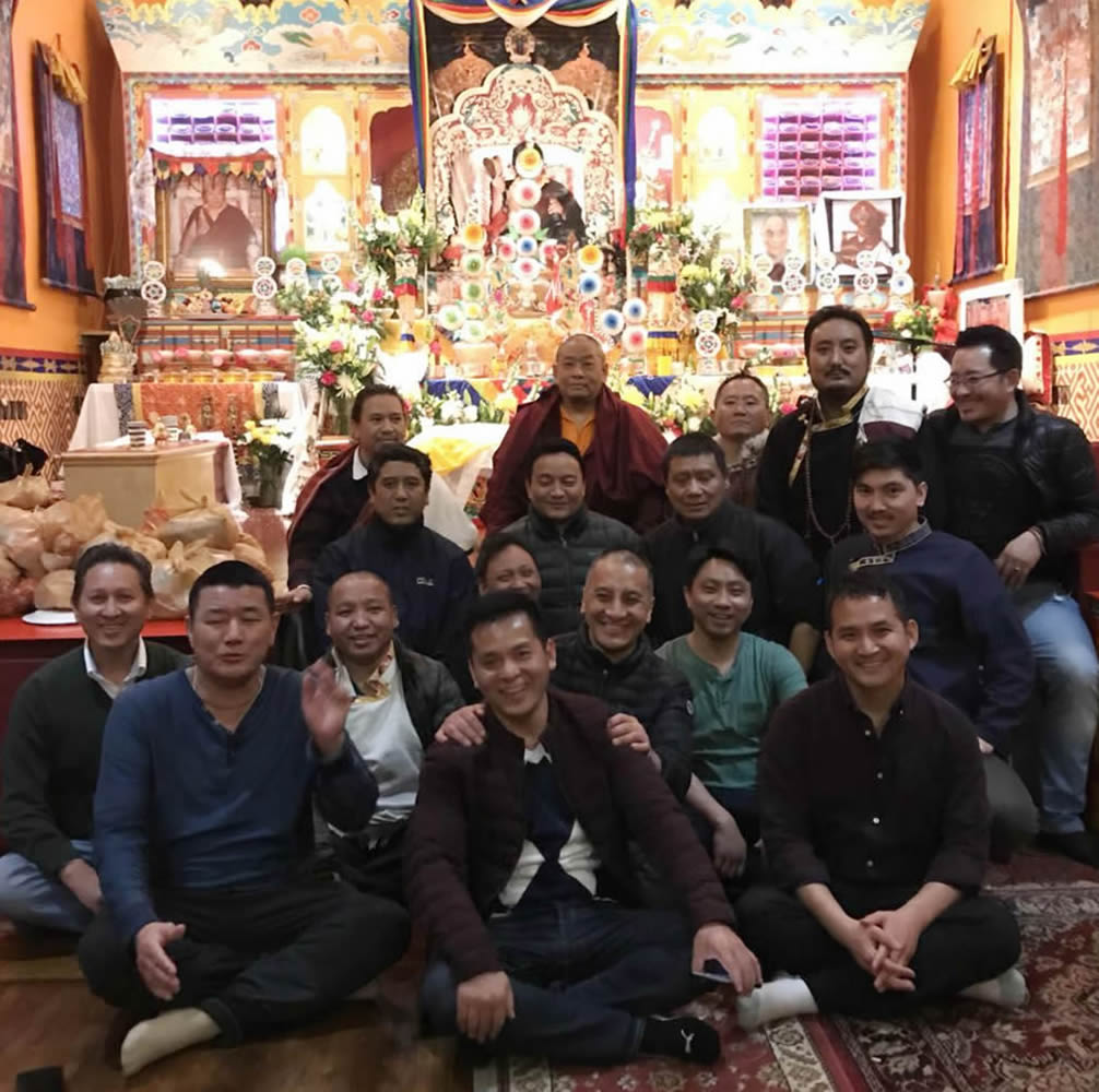 Members of the Tibetan sangha in New York City