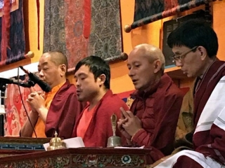 Members of the Tibetan sangha in New York City offering prayers on the 10th anniversary of the parinirvana of Kyabje Mindrolling Trichen