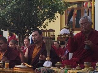 Venerable Dagpo Rinpoche and Umdze Venerable Choktrul Jigdral Ngawang Kunga Rinpoche