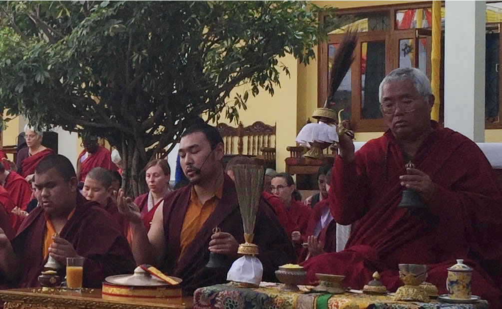 Venerable Dagpo Rinpoche and Umdze Venerable Choktrul Jigdral Ngawang Kunga Rinpoche