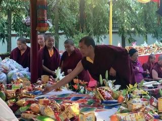 Chopön Venerable Thinley Gyaltsen during the Minling Dorsem
