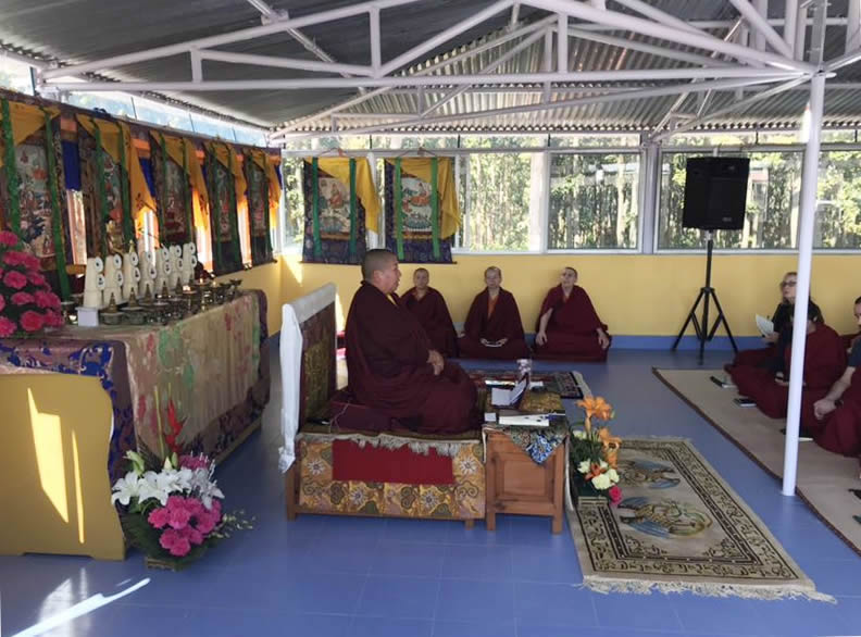HE Jetsun Khandro Rinpoche teaching members of the Western sangha