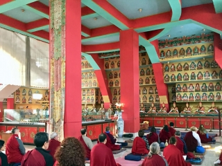 Practicing in the Great Stupa