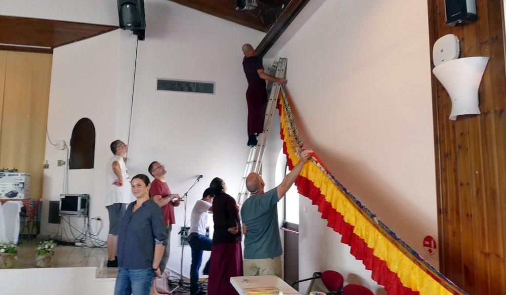 Preparing for Minling Dorsem Drubchö, Magasangha 2018 in Athens